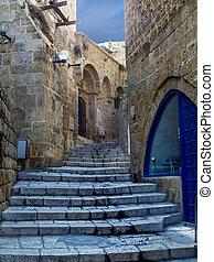 Street in old Jaffa, Tel Aviv, Israel