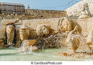 Old jaffa zodiac fountain on kedumim square