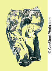 Old jeans. Abstract designe