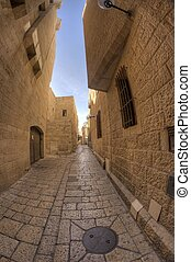 old jerusalem streets in Israel travel attraction