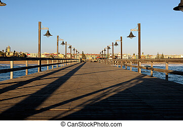 Old jetty in Swakopmund, Namibia - Old historic German jetty...