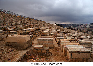 Old jewish cemetry in olive mount