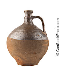 old jug for wine - an old jug for wine is isolated on a...
