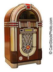 Old Jukebox Music Player - Old jukebox music player isolated...