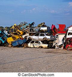 Junk Cars On Junkyard - Old Junk Cars On Junkyard