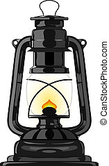 Old kerosene lamp. eps10