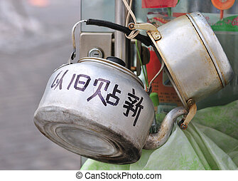 kettle - Old kettle in Chinese street