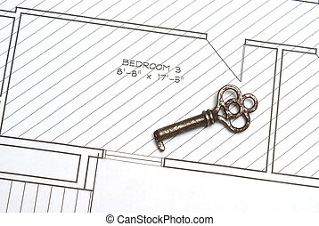 Old Key and Blueprints