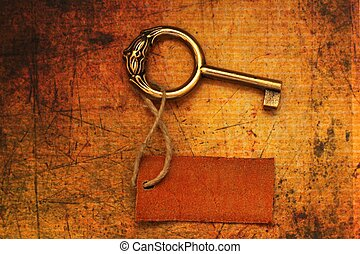 Old key and tag