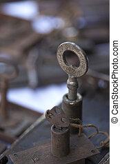 Old key in a flea market