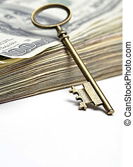 Old Key on Money