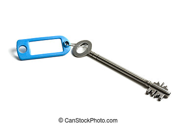 Old key with blank tag