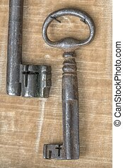 old keys at garage sale