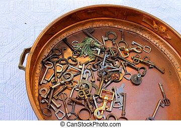 old keys in the pan