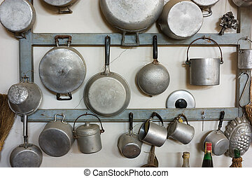 old kitchen equipment - set of old kitchen tools - retro ...