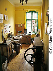 Old kitchen in the antique building
