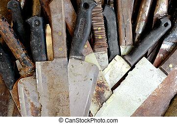 old kitchen knife