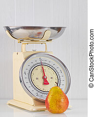 Old kitchen scale