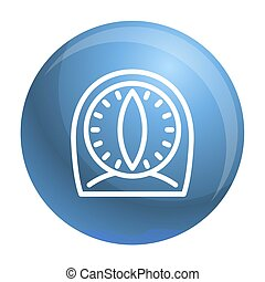 Old kitchen timer icon, outline style