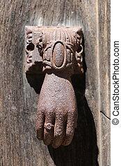 Old knocker in Najac, France