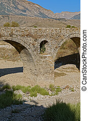 Old Kordhoce bridge from Ottoman period in Albania