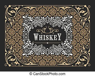 Old label design for Whiskey and Wine label, Restaurant ...
