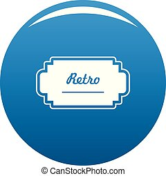 Old label icon blue vector