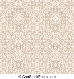 Old lace beige and white background, ornamental flowers.