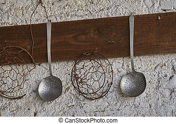 old ladle in the kitchen