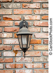 old lamp on wall