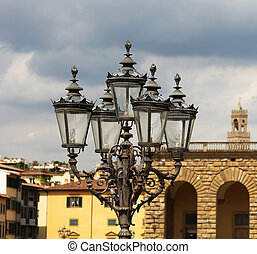 Old Lamp Post Florence Italy