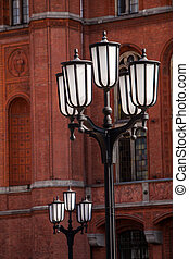 old lamp post in front of the Rotes Rathaus