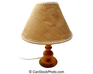 Old Lamp - An old, used lamp on a white background.