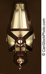 Old Lamp - Old-fashioned hanging light, lamp fixture