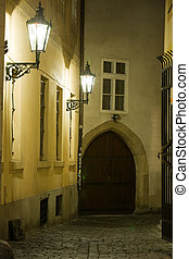 Old lane in Prague