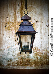 Old lantern mounted on a wall