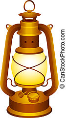 Old lantern - Old and vintage lantern for your design.