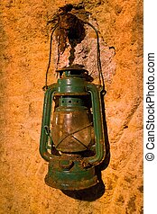old lantern in the cave