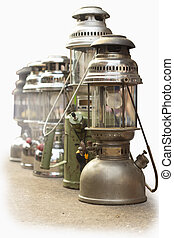 Old lanterns isolated on the background