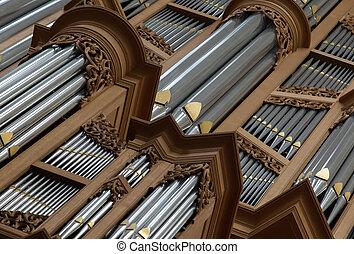 Old large pipe organ