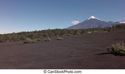 Old lava fields and volcanoes