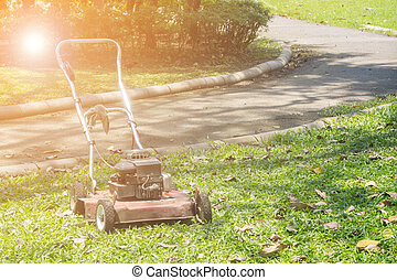 Old lawn mower.
