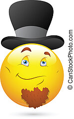 Old Leader Smiley Vector - Creative Abstract Conceptual...