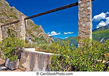 Old lemon plantation in Limone sul Garda, Garda lake in...