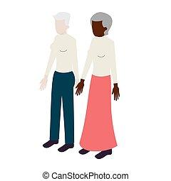 Old lesbian isometric couple