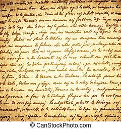 Old Letter Background - Old Letter (18 Century) Vintage...