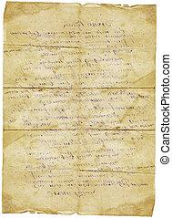 Old letter vintage grunge paper