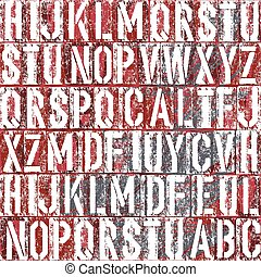 Old letterpress type background, vector