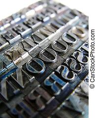 Letterpress Type - Old Letterpress Type