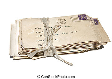 Old Letters - a stack of old letters